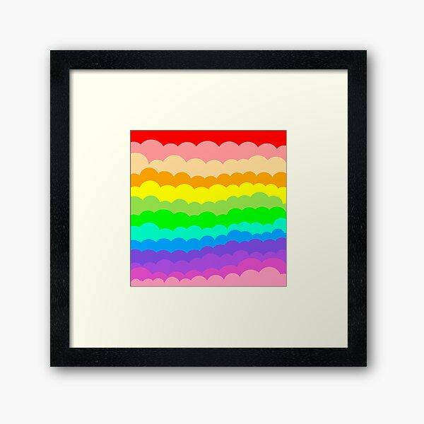 Rainbow pattern Framed Art Print