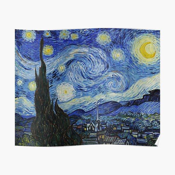La nuit étoilée - peinture de Vincent Van Gogh Poster