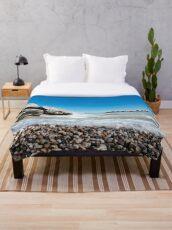 Beach Lake House Decor Throw Blanket