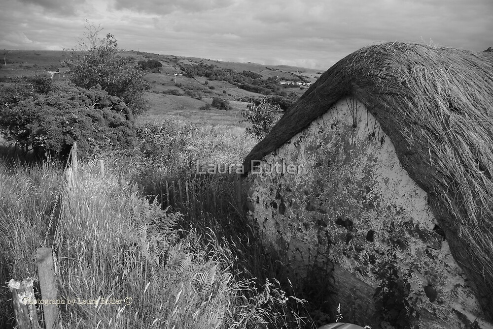 Old Thatch and Summer Grasslands - Killbegs, County Donegal. by Laura Butler