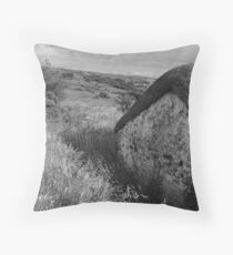 Old Thatch and Summer Grasslands - Killbegs, County Donegal. Throw Pillow