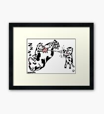 What A Cow. Framed Print