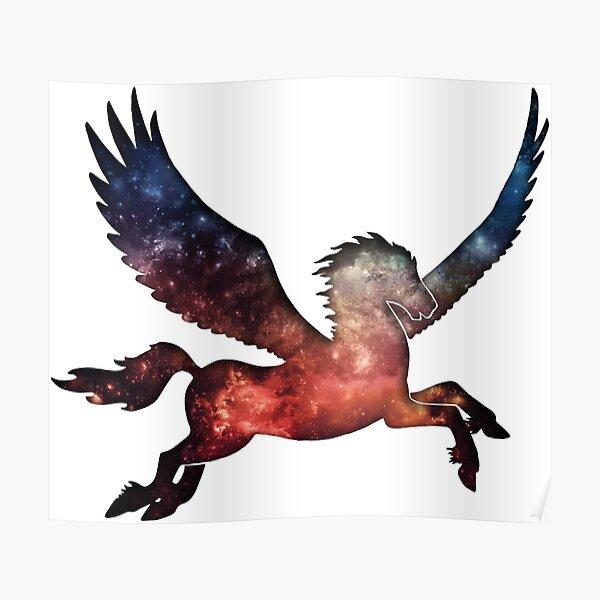 Galaxy Pegasus Silhouette Poster