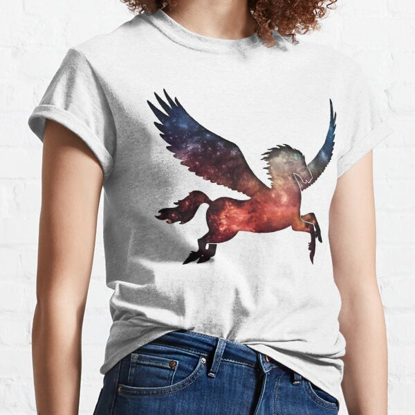 Galaxy Pegasus Silhouette Classic T-Shirt