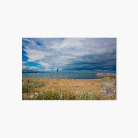 Stormy Beach, Calm after the storm, Beach house decor Art Board Print