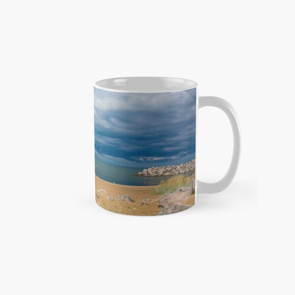 Stormy Beach, Calm after the storm, Beach house decor Classic Mug