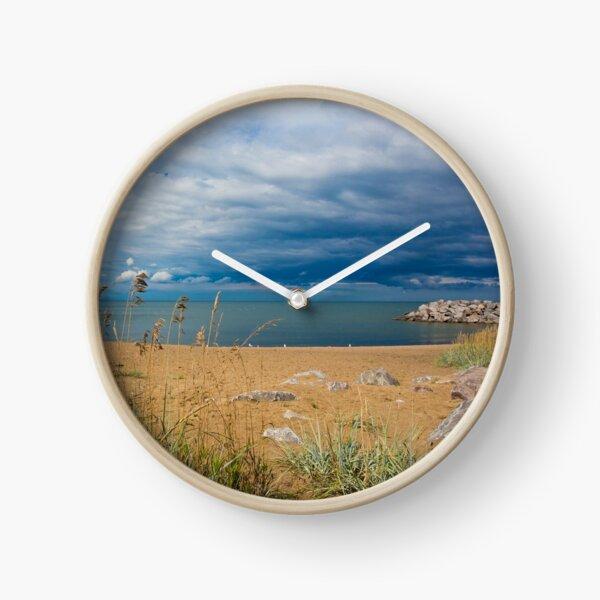 Stormy Beach, Calm after the storm, Beach house decor Clock
