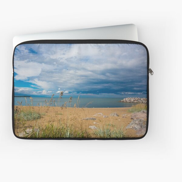Stormy Beach, Calm after the storm, Beach house decor Laptop Sleeve