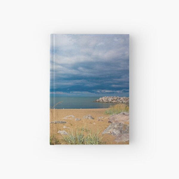 Stormy Beach, Calm after the storm, Beach house decor Hardcover Journal