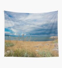 Stormy Beach, Calm after the storm, Beach house decor Wall Tapestry