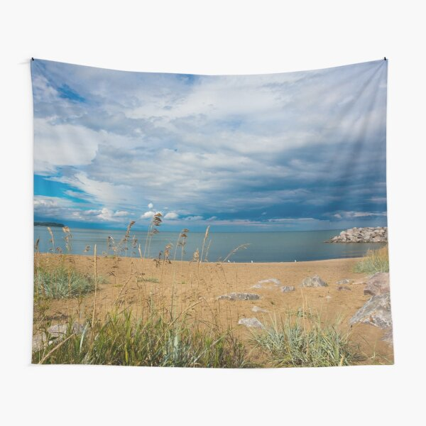 Stormy Beach, Calm after the storm, Beach house decor Tapestry