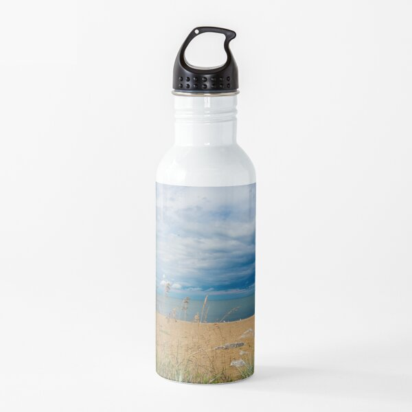 Stormy Beach, Calm after the storm, Beach house decor Water Bottle