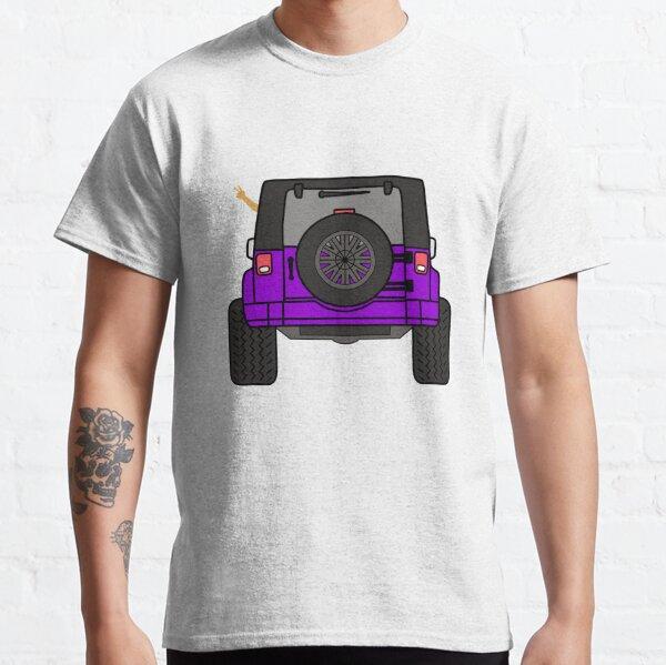 Jeep Wave Back View - Purple Jeep Classic T-Shirt