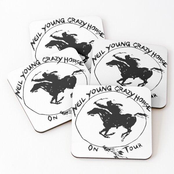 neil young crazy horse tour 2019 2020 kosongsatu Unisex White T-Shirt Front Coasters (Set of 4)