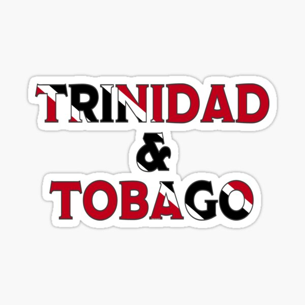 Trinidad & Tobago Font With Flag  Sticker