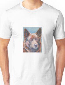 Australian Kelpie Fine Art Painting Unisex T-Shirt