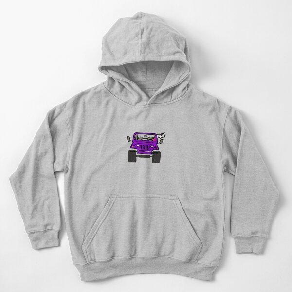 Jeep Wave Purple Girl Kids Pullover Hoodie