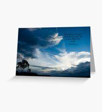 Habakkuk 3:3 Greeting Card
