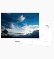 Habakkuk 3:3 Postcards