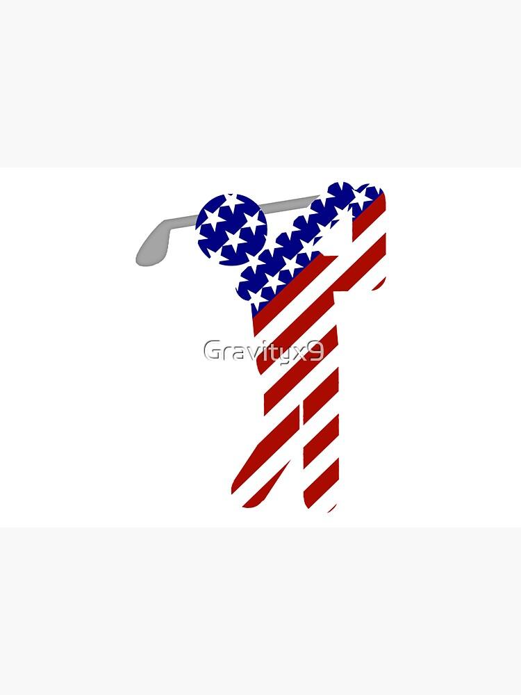 USA Mens Golf - Male Golfer by Gravityx9