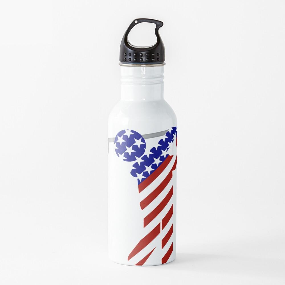 USA Mens Golf - Male Golfer Water Bottle