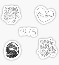 Matty Healy Tattoos Doodles Sticker