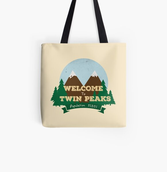 Welcome To Twin Peaks All Over Print Tote Bag