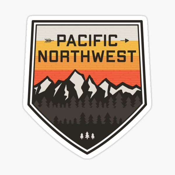 Pacific Northwest Mountains Sticker
