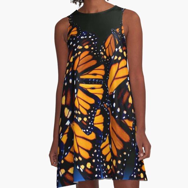 Bue monarch butterfly A-Line Dress