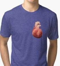 Awesome Real Heart Tri-blend T-Shirt