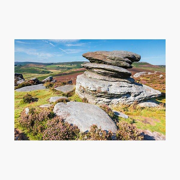 Over Owler tor - Hathersage - Peak District photograph print Photographic Print