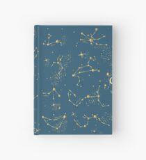 Zodiac Constellations in Neptune Blue Hardcover Journal