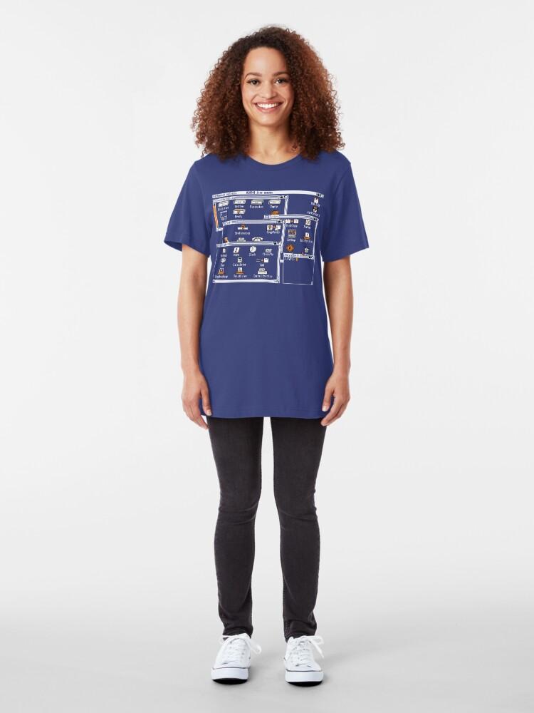 Alternate view of NDVH Amiga Workbench 1.3 Slim Fit T-Shirt