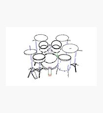 Drum Kit Marker Drawing Photographic Print
