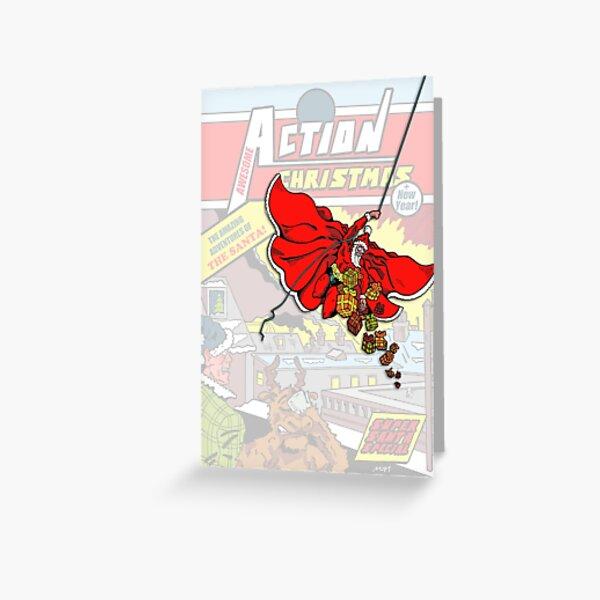 Action Christmas - Sky Santa Pop! Greeting Card