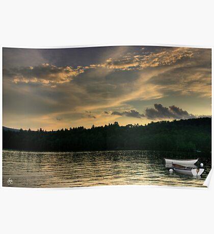 Rowboats at Dusk Poster