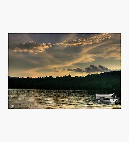 Rowboats at Dusk Photographic Print