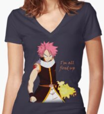 Natsu Fired Up Women's Fitted V-Neck T-Shirt
