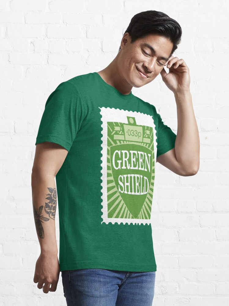 Alternate view of NDVH Green Shield Stamp Essential T-Shirt
