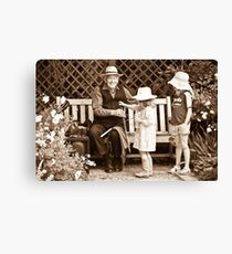Saw player and kids Canvas Print