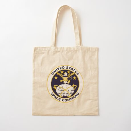 United States Space Command Cotton Tote Bag