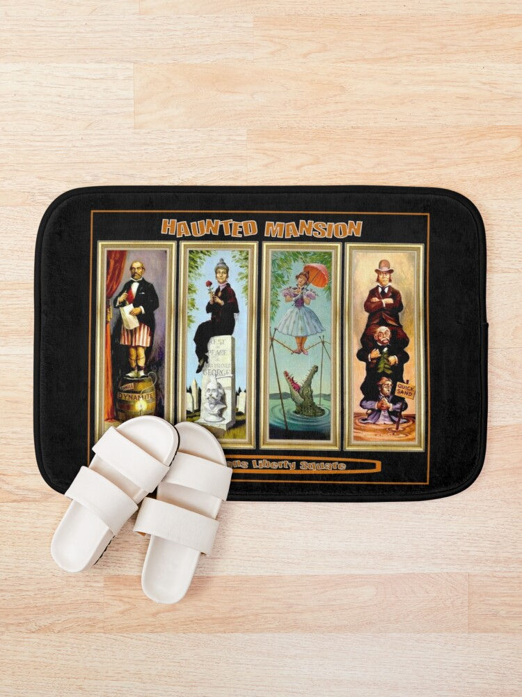 Alternate view of HAUNTED MANSION : Vintage New Orleans Liberty Square Prints. Bath Mat