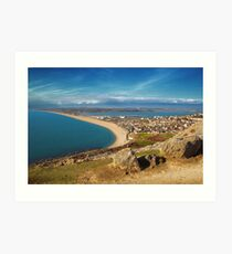 Chesil Beach, Westward Art Print