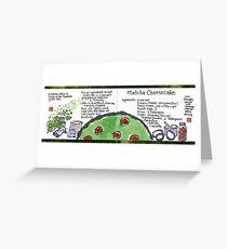 Illustrated Recipe: Matcha Cheesecake Greeting Card