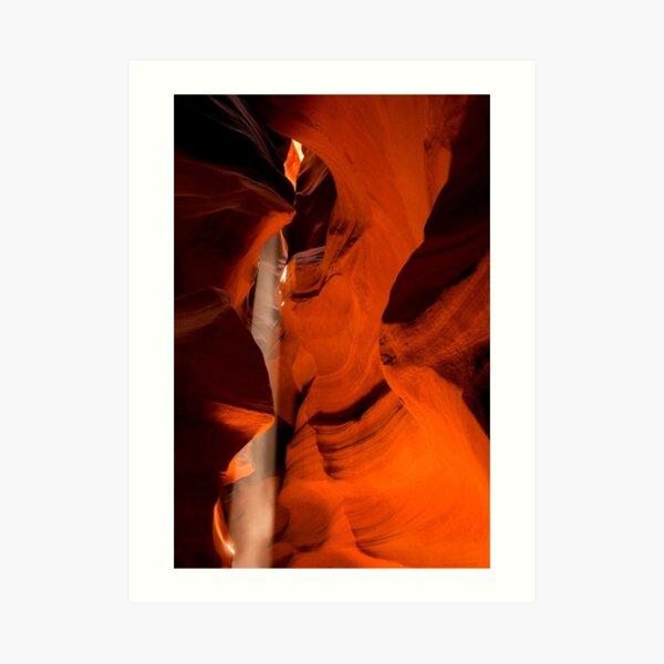 Shot of Light _ Antelope Canyon Art Print
