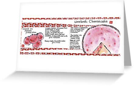 Illustrated Recipe: Umeboshi Cheesecake by dosankodebbie