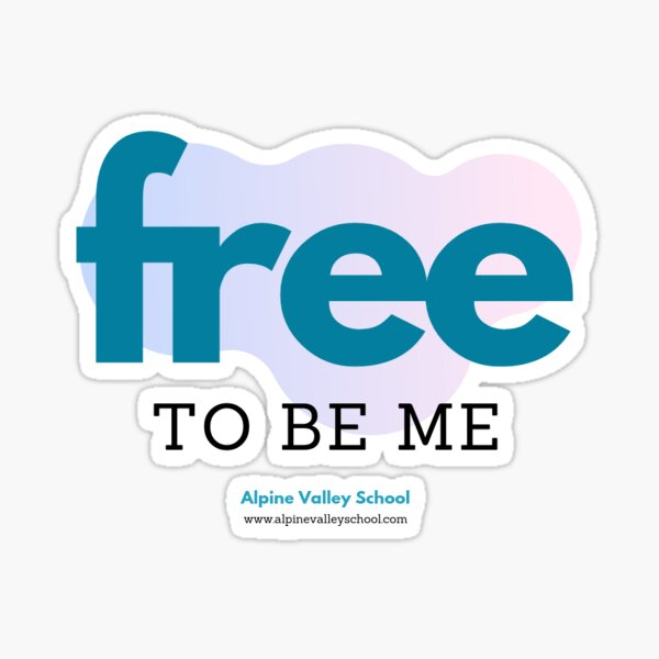 Free to Be Me Sticker
