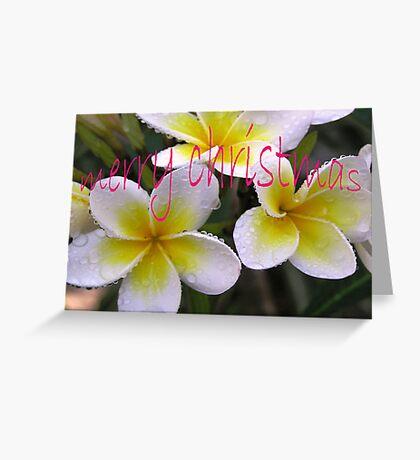 Merry Christmas Frangipani Greeting Card