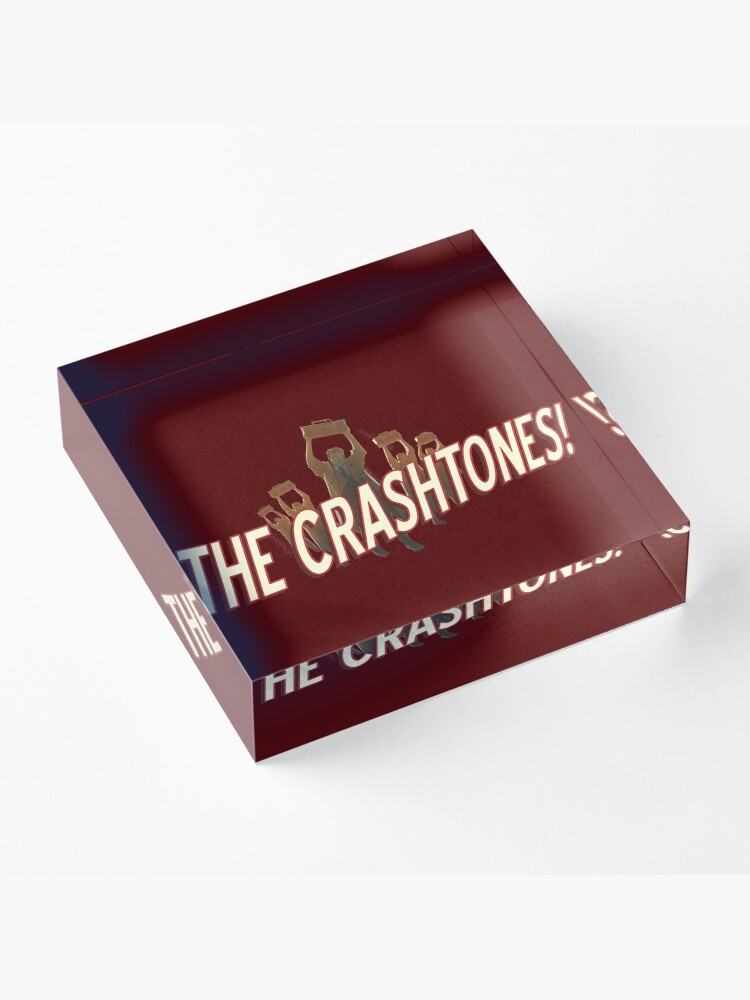 Alternate view of THE CRASHTONES! Acrylic Block
