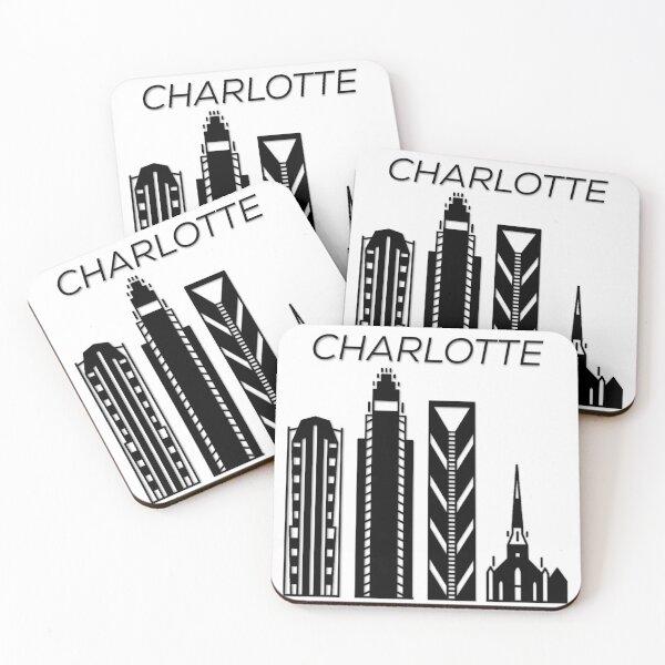 Charlotte North Carolina, USA, Coasters (Set of 4)